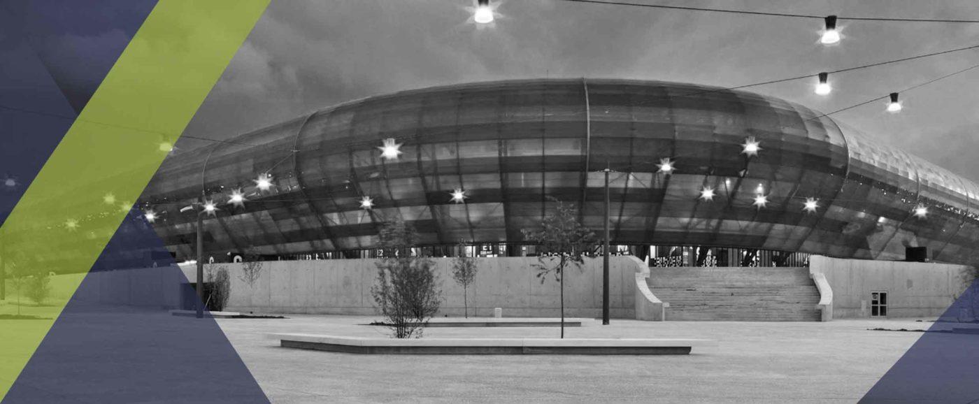 Photographie du stade OCEANE au HAVRE où Sippro Solutions IP Protection s'est occupé de l'installation du système de vidéoprotection.