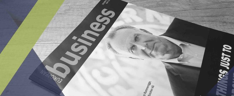 Couverture du magazine. Interview du directeur commercial SIPPRO SOlutions IP PRotection en anglais diffusée dans le magasine EUROPEAN BUSINESS sur les solutions pour un monde plus sécurisé.