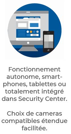 Genetec Advantage | fonctionnement autonome sur smartphone tablette ou security center