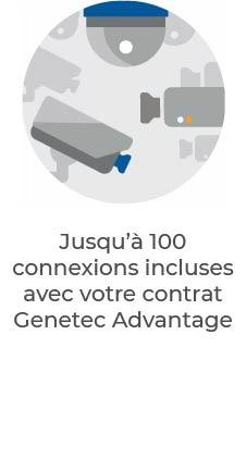 Genetec Advantage | 100 connexions incluses dans votre contrat
