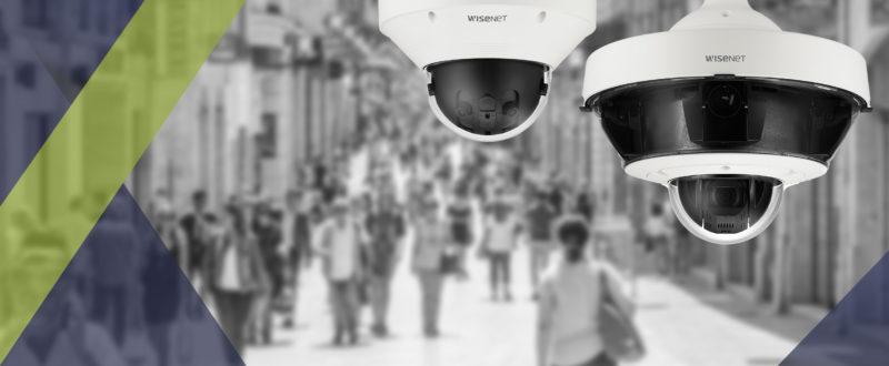 Nouvelles caméras multidirectionnelles hanwha disponible chez SIPPRO.