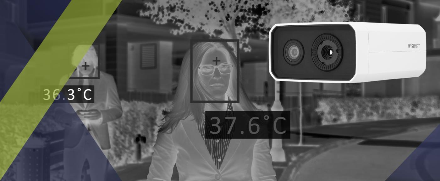 Hanwha nouvelle caméra Détection fièvre. Distribuée par SIPPRO Solutions IP Protection. La caméra Wisenet TNM-3620TDY : un système d'imagerie thermique QVGA pour aider les entreprises à fonctionner en toute sécurité à l'ère de la COVID-19