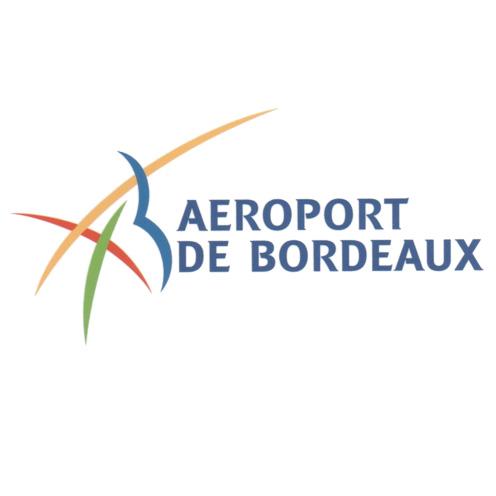 Logotype de l'aéroport de Bordeaux Mérignac, qui est une référence professionnelle SIPPRO Solutions IP Protection, distributeurs de solutions de sûreté et de sécurité pour les professionnels.