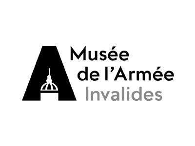 Logotype de du Musée de l'Armée aux invalides à Paris, qui est une référence professionnelle SIPPRO Solutions IP Protection, distributeurs de solutions de sûreté et de sécurité pour les professionnels.