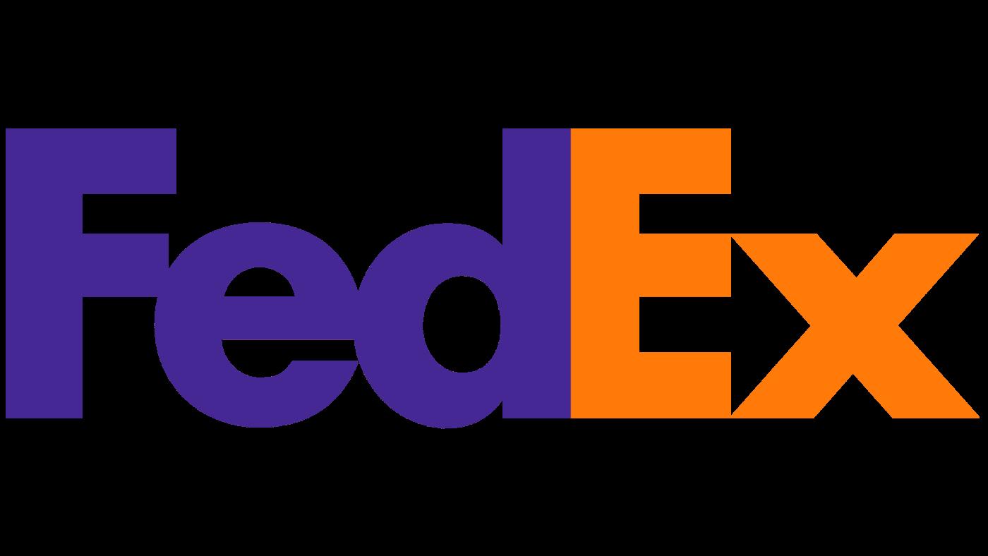 Logotype FEDEX, qui est une référence professionnelle SIPPRO Solutions IP Protection, distributeurs de solutions de sûreté et de sécurité pour les professionnels.