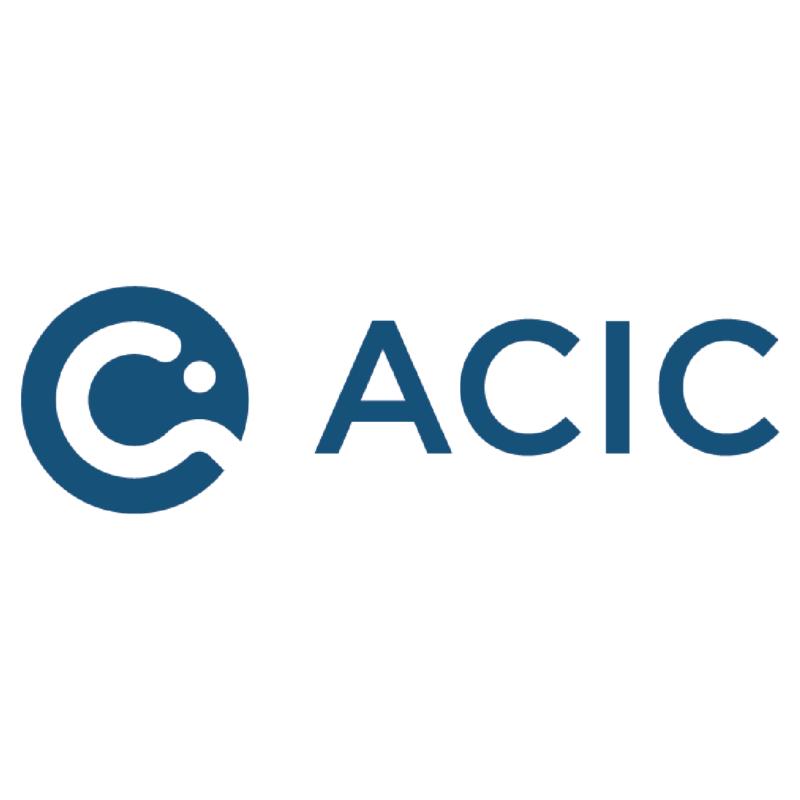 Logotype Acic, une marque partenaire et distribuée par SIPPRO Solutions IP Protection, distributeurs de solutions de sûreté et de sécurité pour les professionnels.
