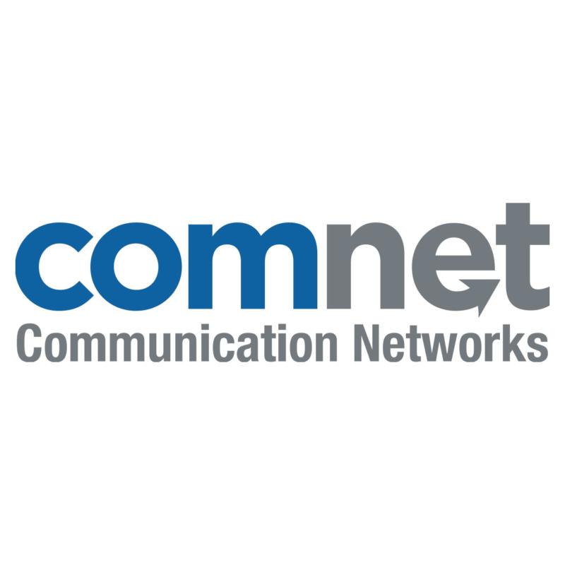 Logotype Comnet, une marque partenaire et distribuée par SIPPRO Solutions IP Protection, distributeurs de solutions de sûreté et de sécurité pour les professionnels.