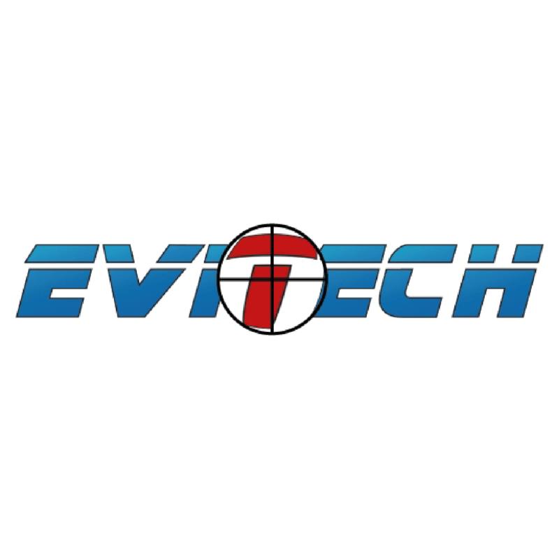 Logotype Evitech, une marque partenaire et distribuée par SIPPRO Solutions IP Protection, distributeurs de solutions de sûreté et de sécurité pour les professionnels.