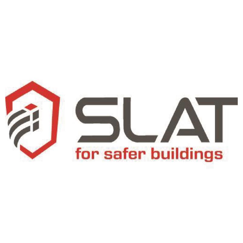 Logotype Slat, une marque partenaire de SIPPRO Solutions IP Protection, distributeurs de solutions de sûreté et de sécurité pour les professionnels.