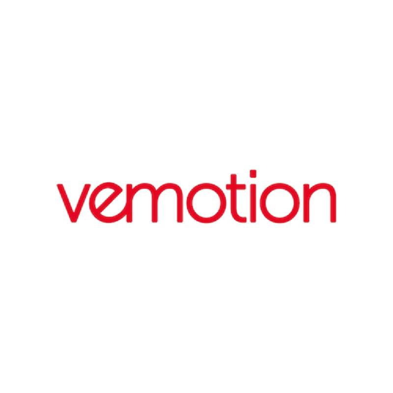 Logotype Vemotion, une marque partenaire de SIPPRO Solutions IP Protection, distributeurs de solutions de sûreté et de sécurité pour les professionnels.