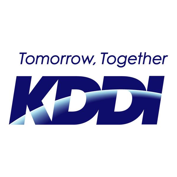 Logotype KDDI, qui est une référence professionnelle SIPPRO Solutions IP Protection, distributeurs de solutions de sûreté et de sécurité pour les professionnels.