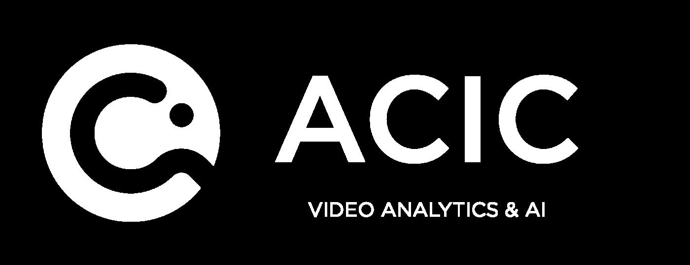 Logotype Acic Blanc, Acic est une marque distribuée par SIPPRO Solutions IP Protection, distributeur certifié Acic en France.