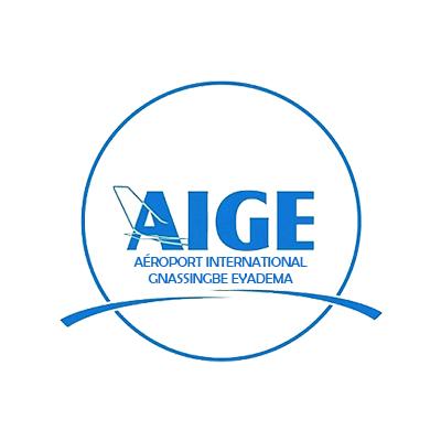 Logotype de l'aéroport international Gnassingbe Eyadema au Bénin, qui est une référence professionnelle SIPPRO Solutions IP Protection, distributeurs de solutions de sûreté et de sécurité pour les professionnels.