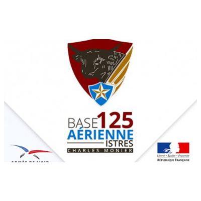 Logotype de la base militaire aérienne 125 basée à Istres, qui est une référence professionnelle SIPPRO Solutions IP Protection, distributeurs de solutions de sûreté et de sécurité pour les professionnels.
