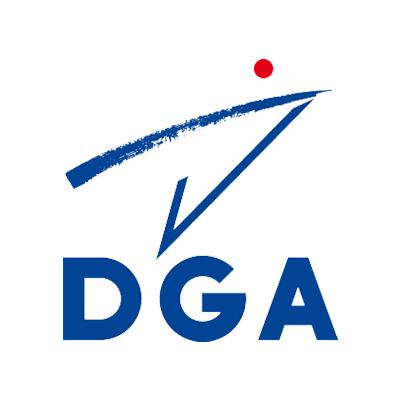 Logotype de la Direction Générale des Armées françaises, qui est une référence professionnelle SIPPRO Solutions IP Protection, distributeurs de solutions de sûreté et de sécurité pour les professionnels.