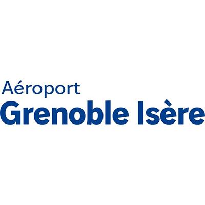 Logotype de l'aéroport de Grenoble , qui est une référence professionnelle SIPPRO Solutions IP Protection, distributeurs de solutions de sûreté et de sécurité pour les professionnels.