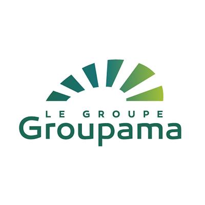 Logotype Groupama Groupe, qui est une référence professionnelle SIPPRO Solutions IP Protection, distributeurs de solutions de sûreté et de sécurité pour les professionnels.