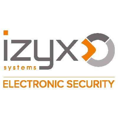 Logotype Izyx Systems, une marque partenaire et distribuée par SIPPRO Solutions IP Protection, distributeurs de solutions de sûreté et de sécurité pour les professionnels.