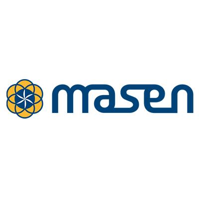 Logotype MASEN, qui est une référence professionnelle SIPPRO Solutions IP Protection, distributeurs de solutions de sûreté et de sécurité pour les professionnels.