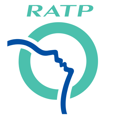 Logotype RATP, qui est une référence professionnelle SIPPRO Solutions IP Protection, distributeurs de solutions de sûreté et de sécurité pour les professionnels.