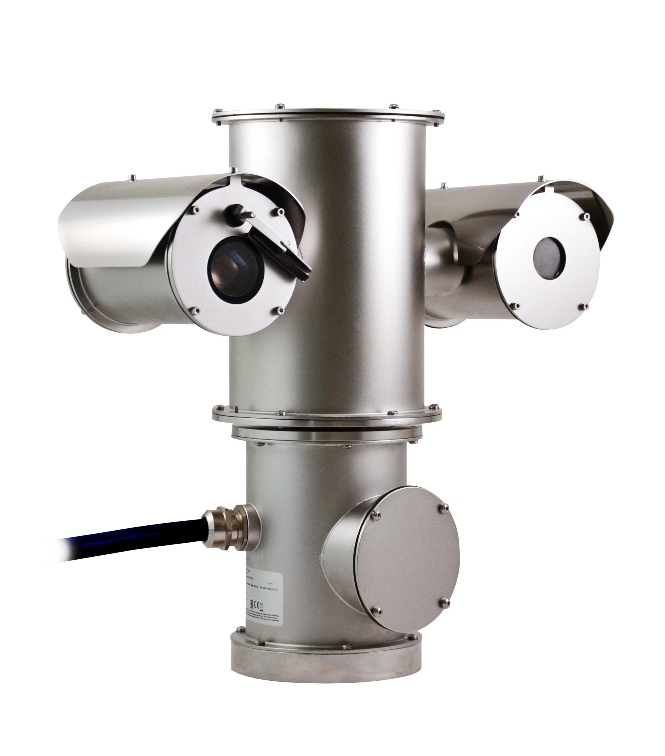 Visuel de la caméra NXPTZ T issue de la gamme de caméras de surveillance produites par Videotec et distribuées par SIPPRO Solutions IP Protection en France.