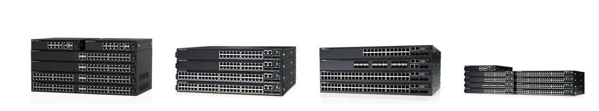 Visuels présentant les différents Switchs de la gamme PowerEdge de DELL distribués par SIPPRO - Solutions IP Protection.
